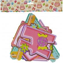 Happy Birthday Glitter Banner-Pink