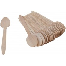 Disposable Wooden Spoon (25 pieces)