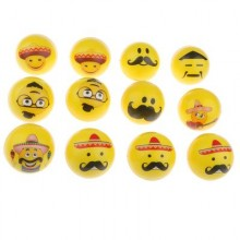 Funny Faces Sponge Ball (Set of 12)