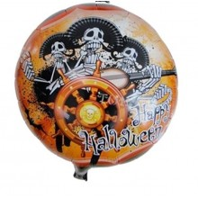 Halloween Pirates Foil Balloon Round Shape