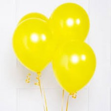 Yellow Metallic Balloons 20 pieces