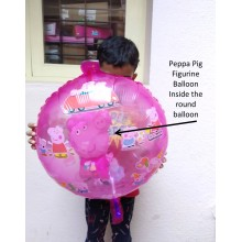Peppa Foil Balloon (Balloon inside a Balloon)
