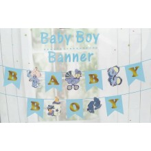 Baby Shower Boy Banner