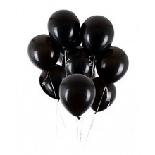 Black Metallic Balloons 25 pieces