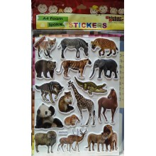 Sticker Bazar - Animal Sticker Sheet (Set of 10)
