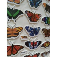 Sticker Bazar - Butterfly Sticker Sheet (Set of 10)
