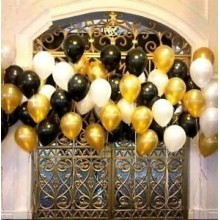 Gold, Black and White Party Balloon Set (60 Pcs)