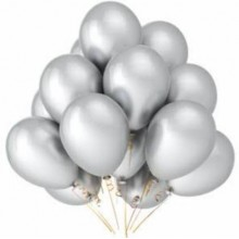 Silver Metallic Balloons 25 pieces