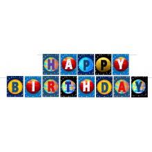 Space Theme Birthday Banner