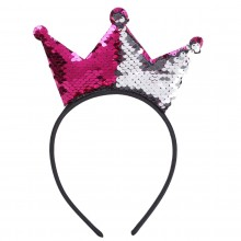Sequin  Hair band -Crown ( Set of 6)