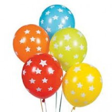 Colourful Stars Printed Balloon (Set of 25)