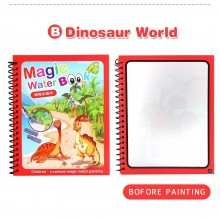 Magic Water Colouring Book - Dinosaur (Set of 10)