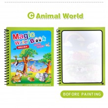 Magic Water Colouring Book - Animal (Set of 10)