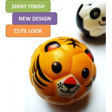 Cute Animal Face Sponge Ball (Set of 12)