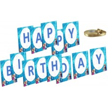 Frozen Elsa Birthday Banner