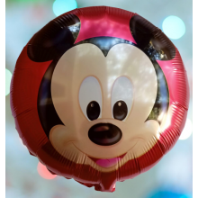 Minnie Theme Round Birthday Foil Balloon