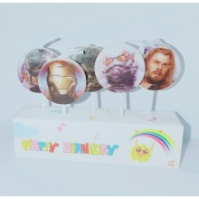 Avenger Superhero Candle Set of 5