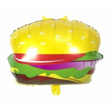 Burger Foil Balloon  (Set of 2)