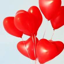 Red Heart Metallic Balloon (Set of 12)