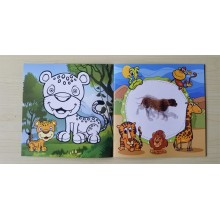 Animal Colouring and Moving Images Magic Book