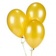 Golden Metallic Balloons 25 pieces