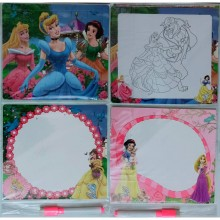 3 in 1 Writing, Puzzle & Colouring Board - Princess