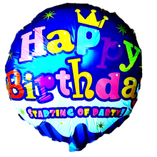 Birthday Foil Balloon - Blue