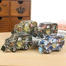 Metal Jeep Coin Bank- Army Theme