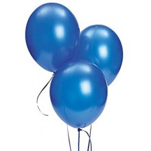 Blue Metallic Balloons 20 pieces