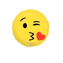 Smiley Emoji Foil Balloon - Kisses