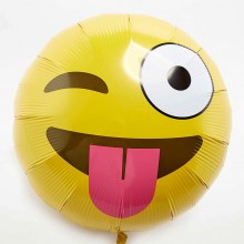 Smiley Emoji Foil Balloon - Wink