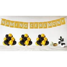 Naming Ceremony Golden Theme Party Decoration Set
