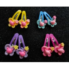 Fancy Hair Clips (1 pair) Butterfly Design