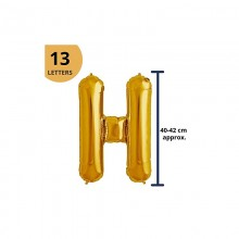 Happy Birthday Foil Balloon - Silver Letters