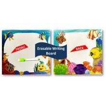 3 in 1 Writing, Puzzle & Colouring Board - Aqua