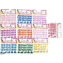Glitter Stickers-Numbers
