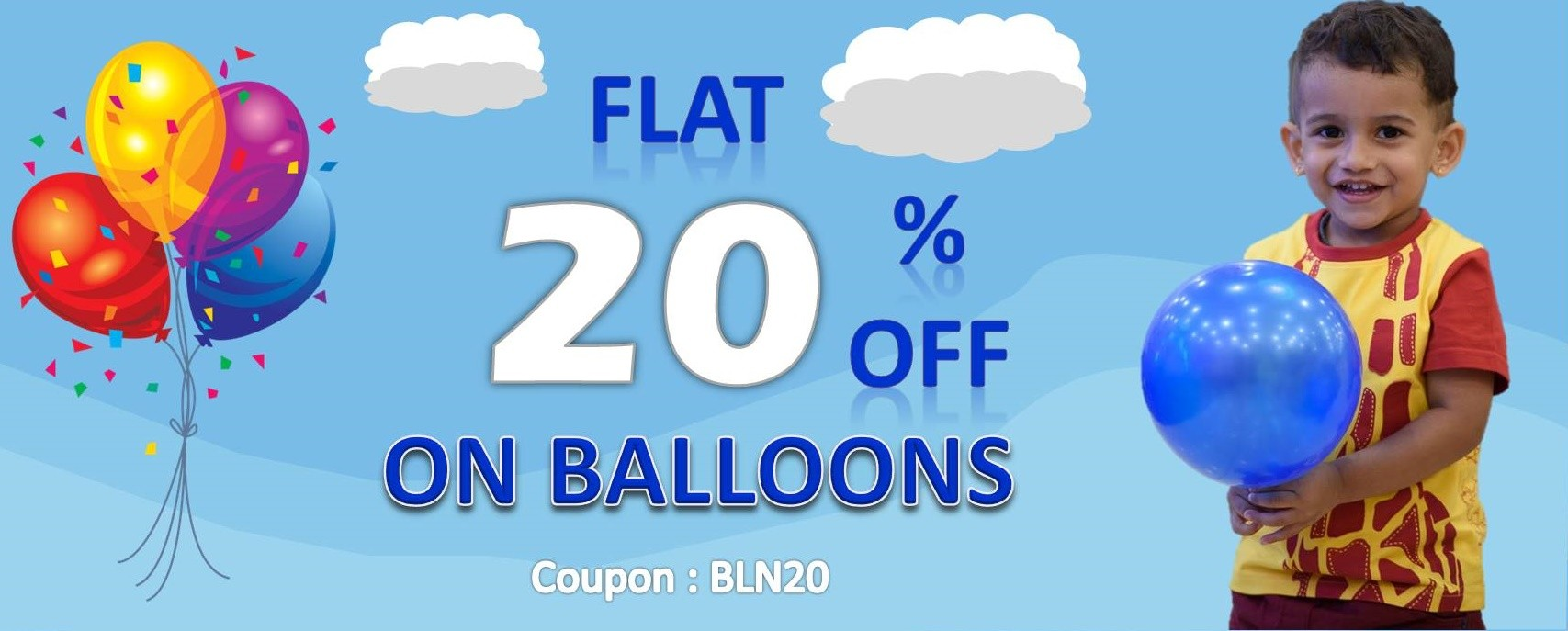 20% Off on Balloons