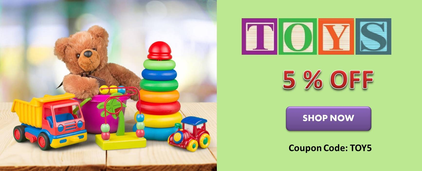 5% Discount on All Toys